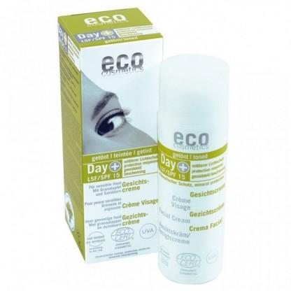 Crema de zi hidratanta nuantatoare cu protectie solara FPS 15 Eco Cosmetics 50ml
