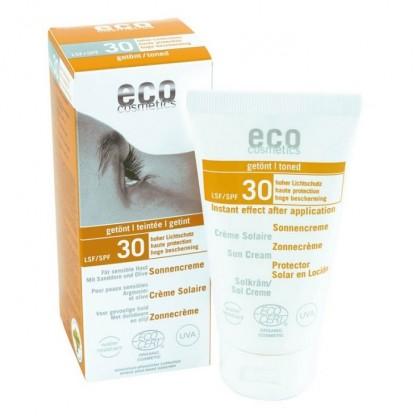 Crema BIO protectie solara inalta FPS 30 nuantata Eco Cosmetics 75ml
