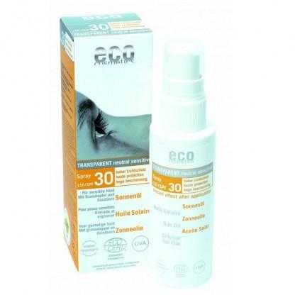 Ulei de plaja bio pentru fata si corp cu protectie solara inalta FPS 30 Eco Cosmetics 50 ml