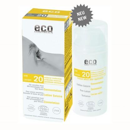Lotiune fluida de protectie solara FPS 20 cu goji si rodie 100 ml Eco Cosmetics