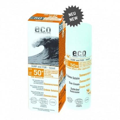 Crema bio cu protectie solara FPS 50+ extra-rezistenta la apa SURF & FUN Eco Cosmetics 50ml