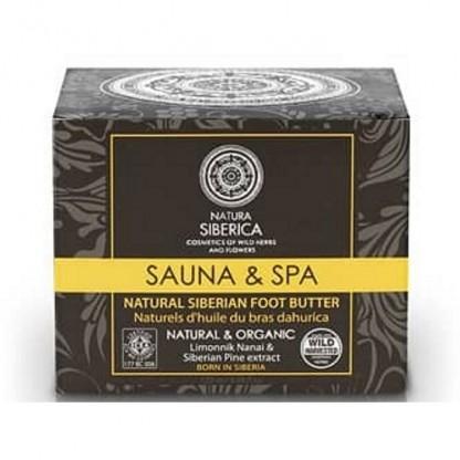 Unt pentru picioare cu extract de lamaie si pin siberian Sauna Spa 120ml Natura Siberica