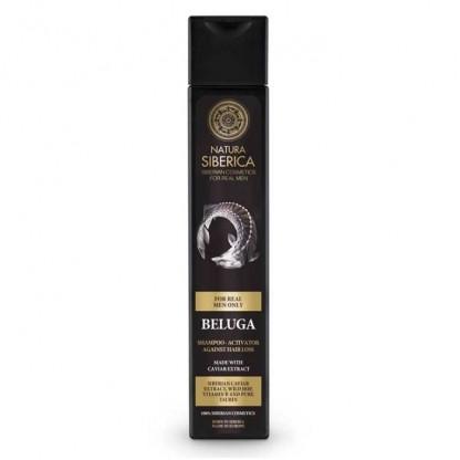 Sampon barbati impotriva caderii parului cu caviar Beluga 250ml Natura Siberica