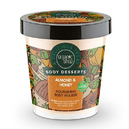 Mousse de corp delicios nutritiv Almond & Honey 450ml Organic Shop