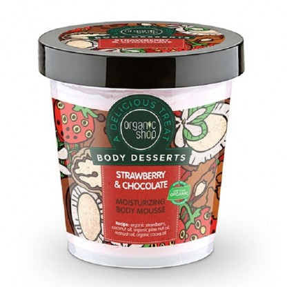 Mousse de corp delicios Strawberry & Chocolate 450ml Organic Shop