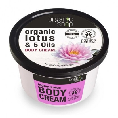 Crema de corp delicioasa Indian Lotus 250ml Organic Shop