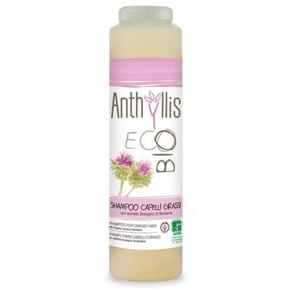 Sampon pentru par gras cu extract de brusture si rozmarin ECO BIO Anthyllis 250ml