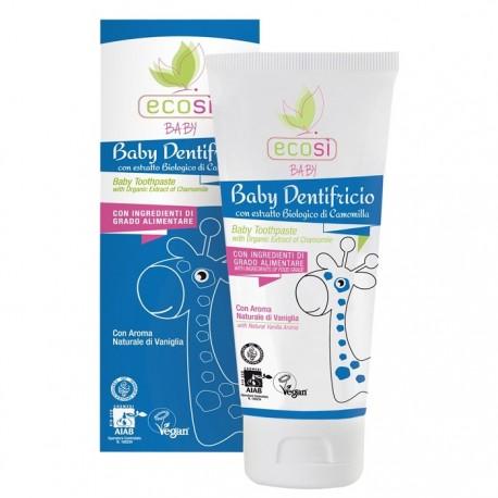 Pasta de dinti ECO BIO pentru copii cu aroma vanilie Ecosi Baby 75ml