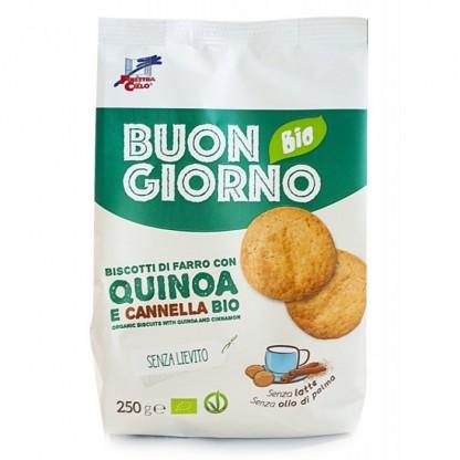 Biscuiti Buongiorno BIO din spelta cu quinoa si scortisoara Finestra sul Cielo 250g