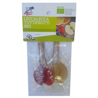 Acadele bio cu fructe Lollypops (indulcite cu sirop de orez) 50g Finestra sul Cielo
