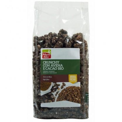 Musli crocant bio cu fulgi de ovaz si cacao 375g Finestra sul Cielo