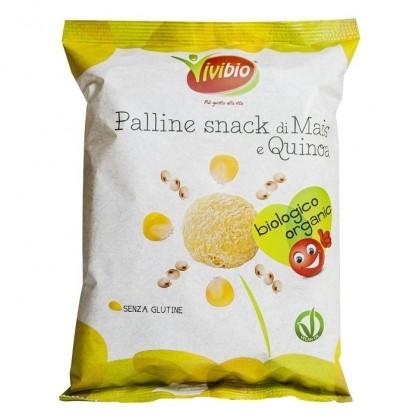 Pufuleti BIO din porumb si quinoa (fara gluten) 40g Vivibio