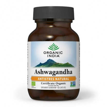 Ashwagandha Antistres Natural 60 capsule vegetale Organic India