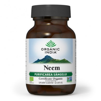Neem Organic India 60 caps Antibiotic Natural