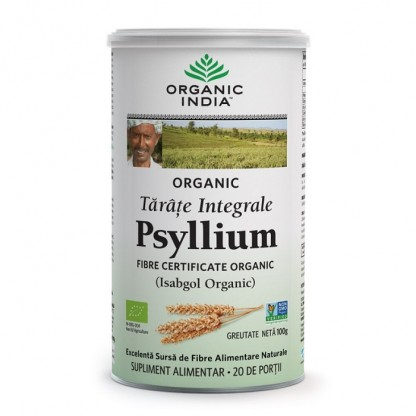 Tarate de Psyllium Integrale Organic India 100g (peste 87% Fibre)