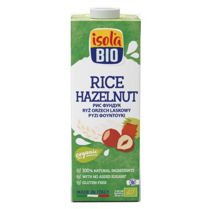Bautura bio din orez cu alune Isola Bio 1L (fara gluten)