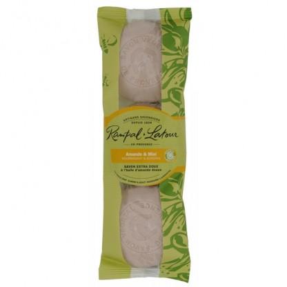 Pachet 3 sapunuri naturale migdale miere 450g Rampal Latour