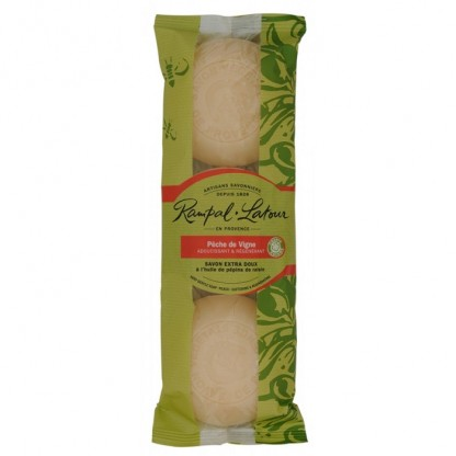 Pachet 3 sapunuri naturale piersica 450g Rampal Latour