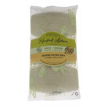 Pachet 3 sapunuri BIO salvie bergamota 450g Rampal Latour