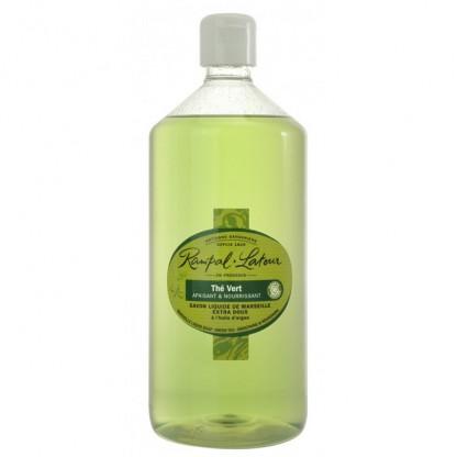 Sapun lichid de Marsilia ceai verde argan (maini si corp) 1000ml Rampal Latour