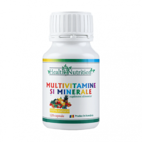Multivitamine si minerale 120 capsule Health Nutrition