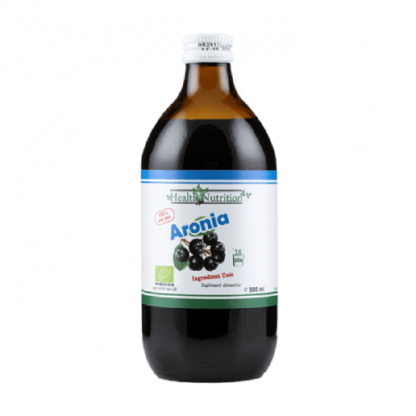 Suc de aronia (Aronia malanocarpa) BIO 100% pur 500ml Health Nutrition