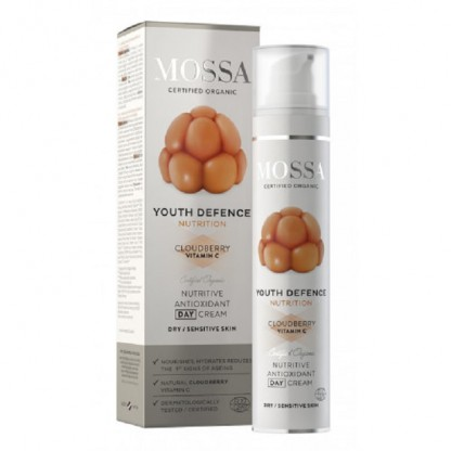 YOUTH DEFENCE Crema nutritiva antioxidanta de zi pt ten uscat 50ml Mossa Organic