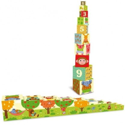 Cuburi piramida Melusine Vilac, 1-3 ani