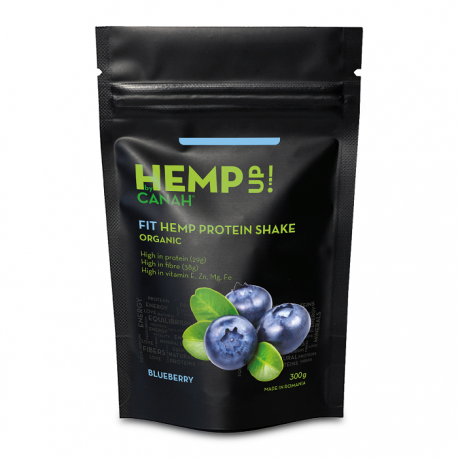 Fit shake proteic de canepa si afine Eco 300g Canah