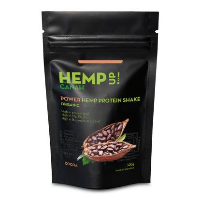 Power shake proteic de canepa si cacao Eco 300g Canah