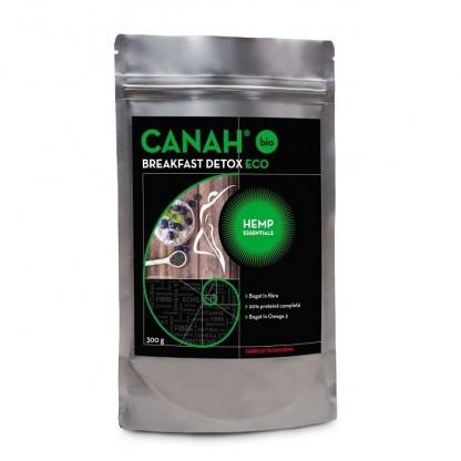 Fibre din seminte de canepa BIO Breakfast Detox 300g Canah