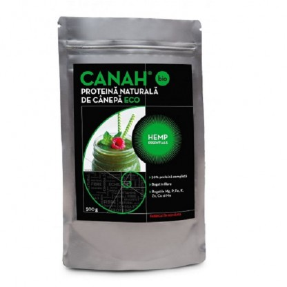 Pudra proteica de canepa ECO 500g Canah