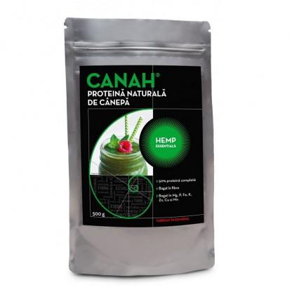 Pudra proteica de canepa naturala 500g Canah