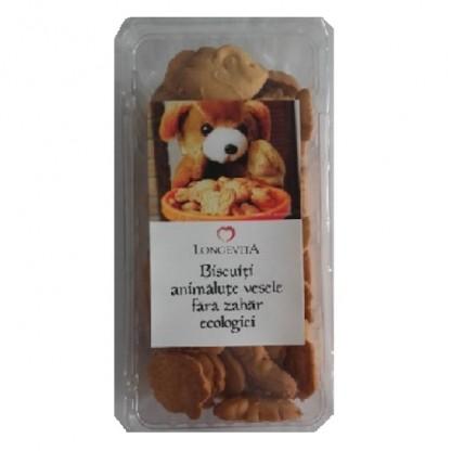 Biscuiti animalute vesele fara zahar BIO 140g Longevita BIO