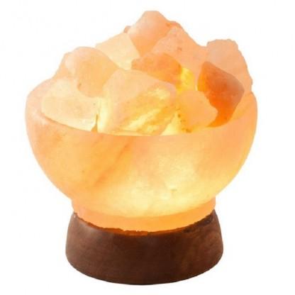 Lampa electrica din cristale de sare de Himalaya Minge de foc Monte