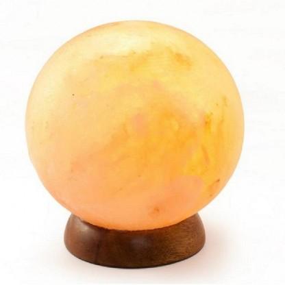 Lampa electrica din cristale de sare de Himalaya Glob Feng Shui Monte Salt Crystal