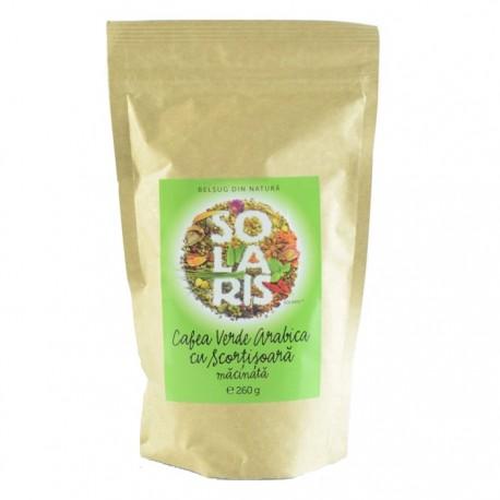 Cafea verde Arabica Macinata cu Scortisoara 260g Solaris