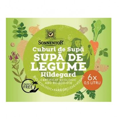 Cub supa de legume Hildegard BIO Sonnentor 6*60g