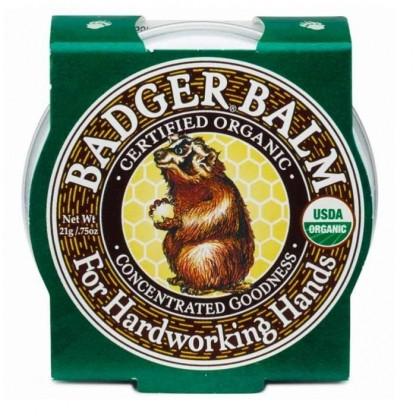 Mini balsam pentru maini crapate si muncite 21g Badger Organic