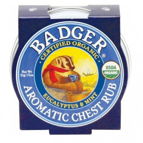 Mini balsam aromatic pt desfundarea nasului si respiratie regulata Chest Rub 21g Badger Organic