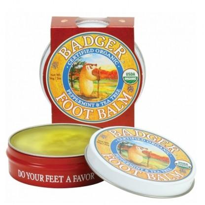 Mini balsam pentru picioare obosite si calcaie crapate Foot Balm 21g Badger Organic