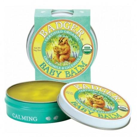 Mini balsam pentru bebelusi Baby Balm 21g Badger Organic