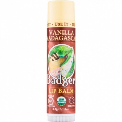 Balsam de buze Vanilla Madagascar 4.2g Badger Organic