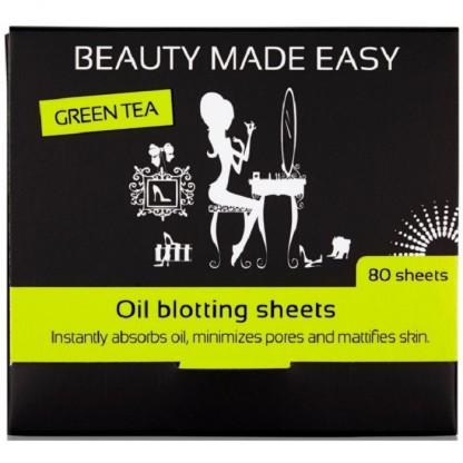 Foite matifiante cu ceai verde pentru ten 80buc Beauty Made Easy