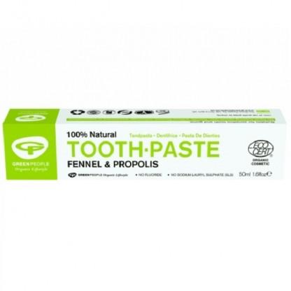 Pasta de dinti cu fenicul organic si propolis (homeopata) 50ml Green People