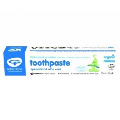 Pasta de dinti cu menta si aloe vera BIO pt copii 50ml Green People