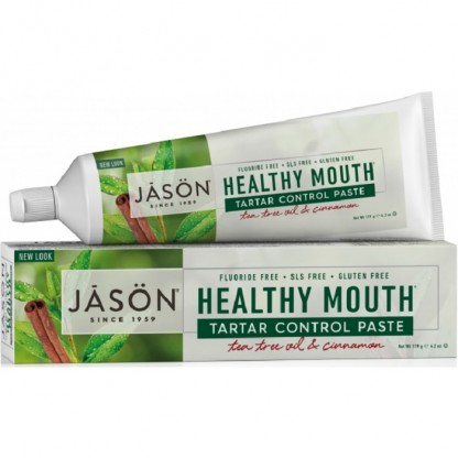 Pasta de dinti anti-placa si tartru Healthy Mouth pt gingii iritate 119g Jason