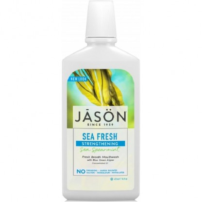 Apa de gura pt detoxifiere si intarire dinti Sea Fresh 473ml Jason Natural