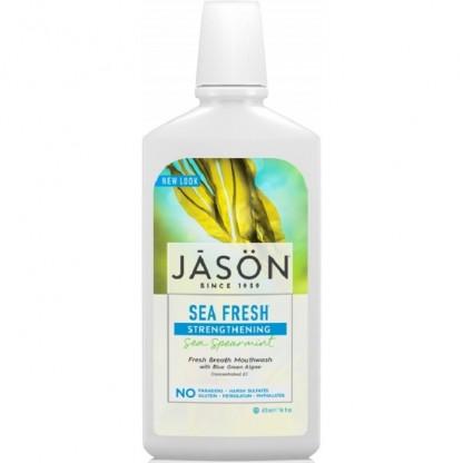 Apa de gura pt detoxifiere si intarire dinti Sea Fresh 473ml Jason Natural