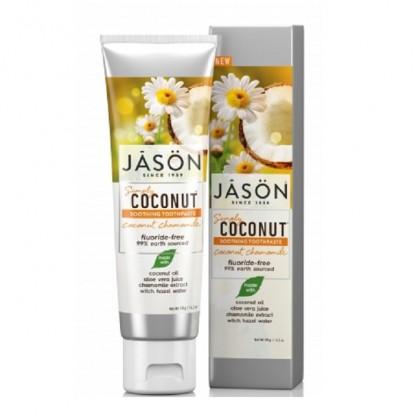 Pasta de dinti sensibili cu cocos si musetel 119g Jason